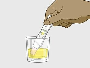 Or you can hold the tip of the pregnancy test in a clean container with some of your urine.